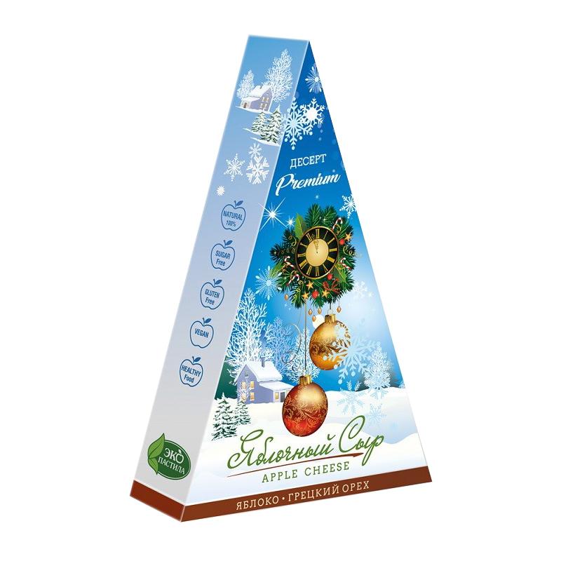 Яблочный сыр с грецким орехом (новогодняя упаковка), 120г
